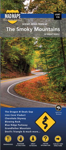 USRT170 - Scenic Road Trips Map of Smoky Mountains