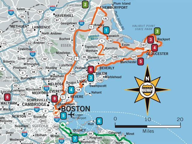 GOTBOS1 - Scenic Road Trips Map - Boston - MAD Maps