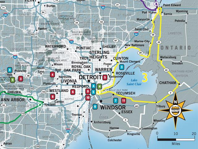 GOTDTW1 - Get Outta Town Scenic Road Trips Map - Detroit - MAD Maps