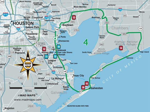 GOTHOU1 - Scenic Road Trips Map - Houston - MAD Maps
