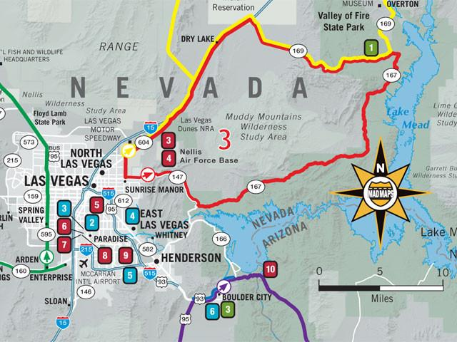 GOTLAS1 - Scenic Road Trips Map - Las Vegas - MAD Maps