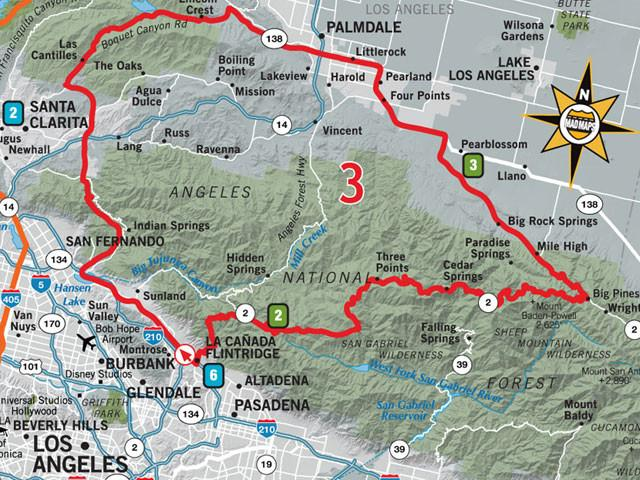 GOTLAX1 - Get Outta Town Scenic Road Trips Map - Los Angeles - MAD Maps