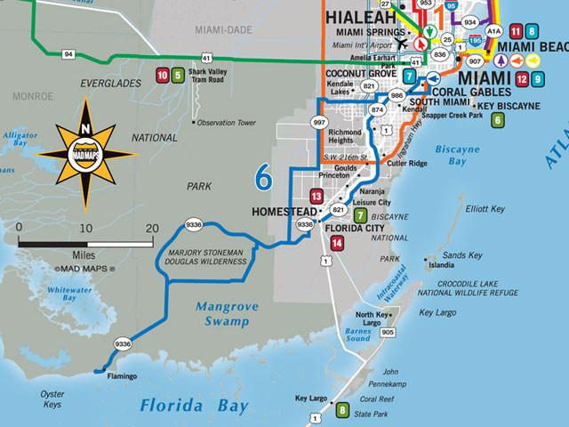 MAD Maps GOTMIA1 Get Outta Town Scenic Road Trips Map Miami