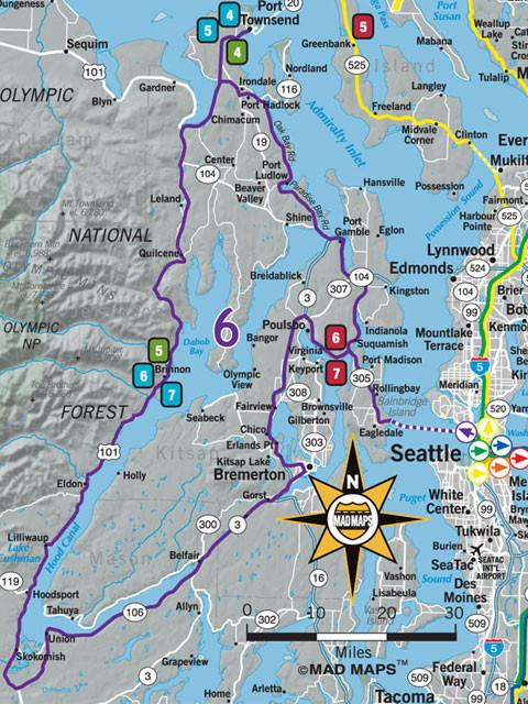GOTSEA1 - Get Outta Town Scenic Road Trips Map - Seattle - MAD Maps