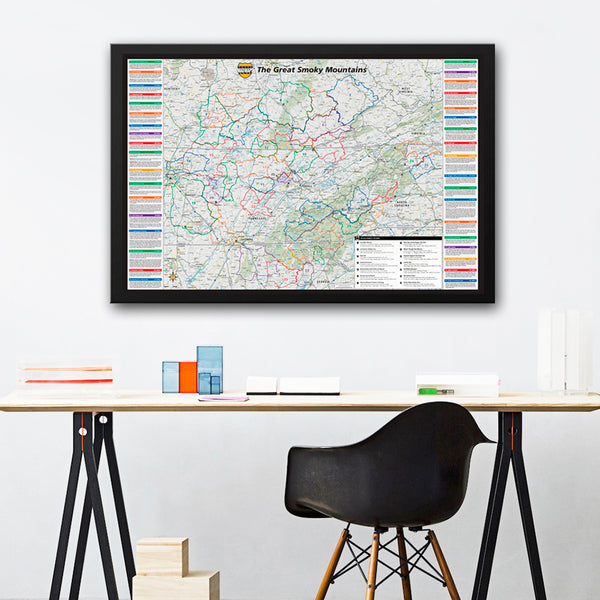 Wall Map - Smoky Mountains - MAD Maps