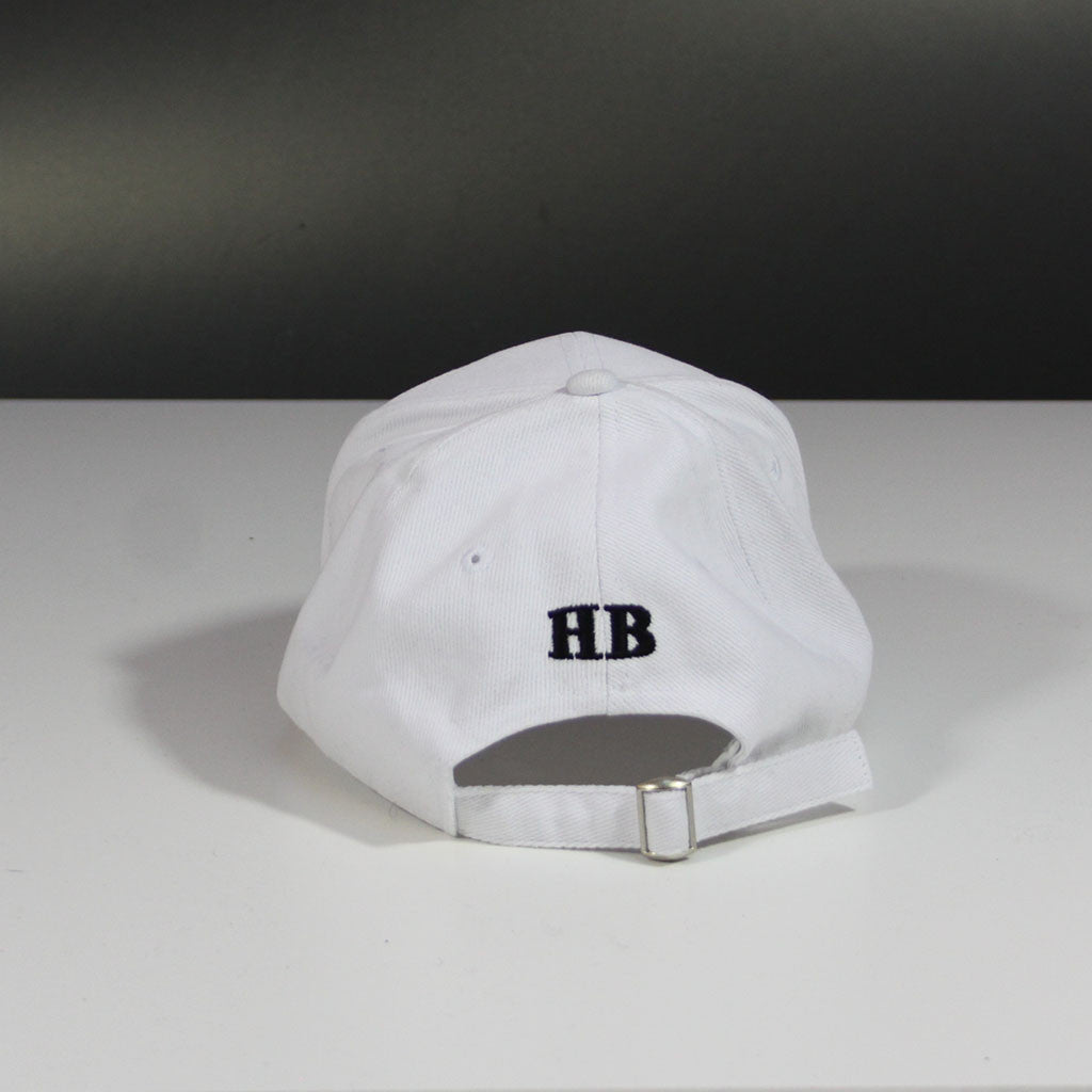 Japanese 'Love & Happiness' Unstructured Cap - White