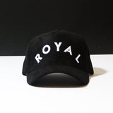 ROYAL Baseball Cap - Black Suede
