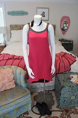 RAG & BONE tropical pink SILK Beatriz Dress sz S - NWT
