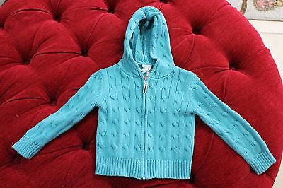 CREW CUTS Teal Zip-Up Sweater Jacket sz 3T