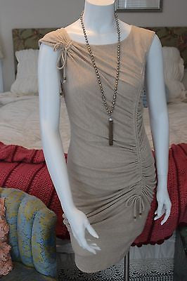 EVA FRANCO nude fitted dress sz 6 - NWOT