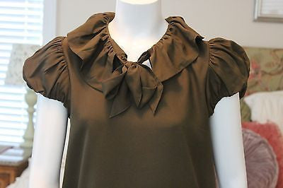 Anthropologie TWELVE BY TWELVE army green dress sz M - worn once
