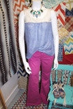 ANN TAYLOR top sz M & VS London colored jeans sz 6L