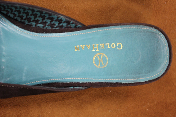 Vintage Cole Haan Suede Mules Size 6.5