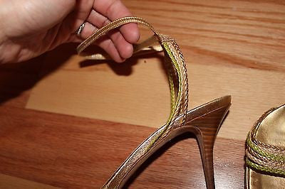 COLE HAAN Gold Strappy Heels size 8B - Gorgeous and dainty