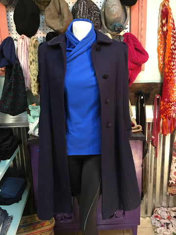 ROTHSCHILD Navy blue Girl's trench coat sz 14 - fits XS woman