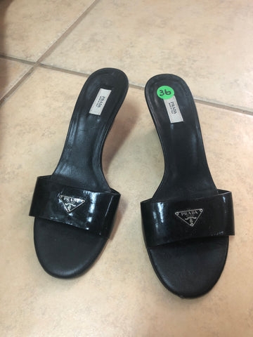 Prada Black Sandals sz 36 EU