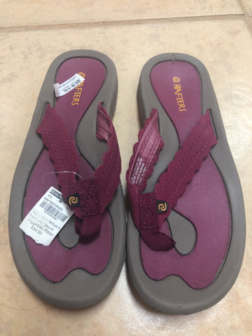 Rafters Purple Gray Sandals Brown sz 8
