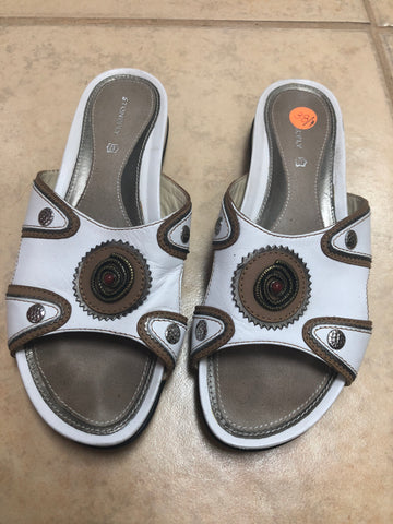 Stonefly White Sandals sz 7 (38EU)