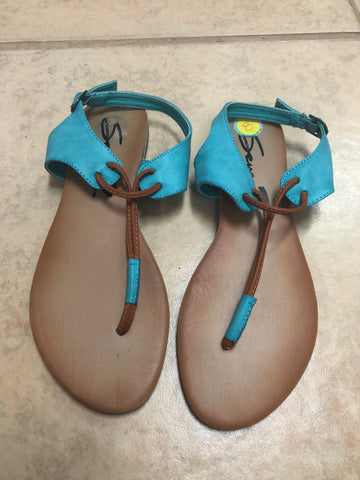 Seven Brown Blue Sandals sz 8