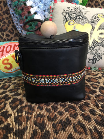 MAD STYLE mini black box purse with attachable strap - NWT
