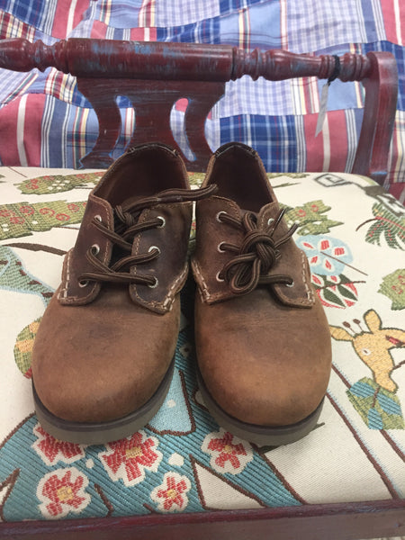 SPERRY genuine leather dress shoes boys sz 2 - NEW