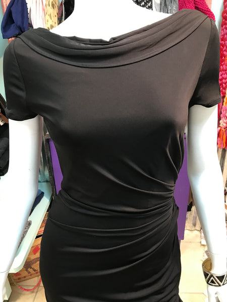 DAVID MEISTER Black sexy back party dress sz 2