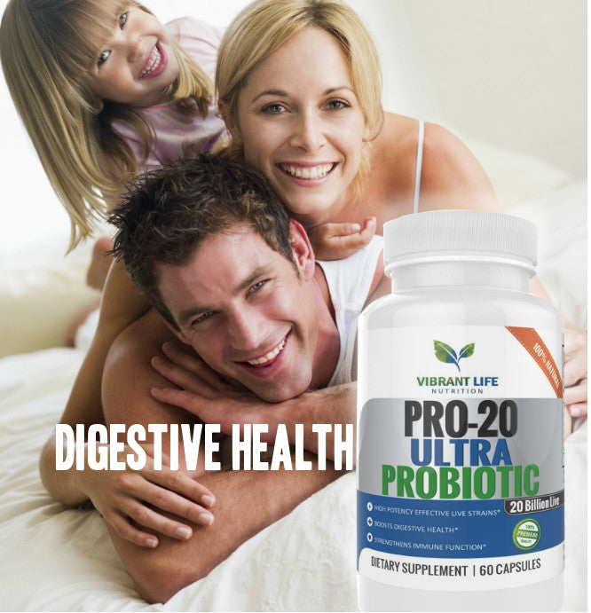 PRO-20 ULTRA PROBIOTICS - 20 BILLION LIVE