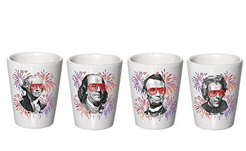 4th of July Shot Glasses - Cups - 1776 - President Shot Glasses - Decor