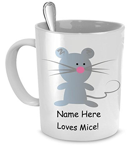 Gift for mouse lovers - Personalized mouse mug - Mice lovers