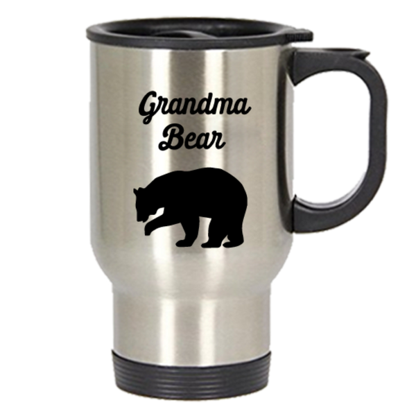 Grandma Bear Travel Mug - Funny Tea Hot Cocoa Insulated Tumbler - Novelty Birthday Christmas Anniversary Gag Gifts Idea