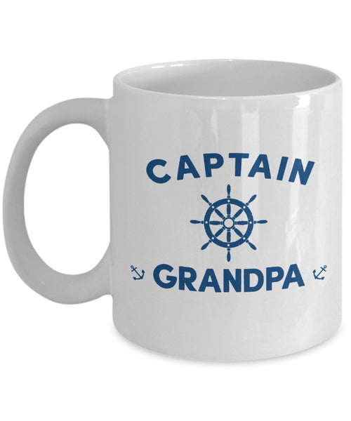 Captain Grandpa Mug - Funny Tea Hot Cocoa Coffee Cup - Novelty Birthday Christmas Anniversary Gag Gifts Idea
