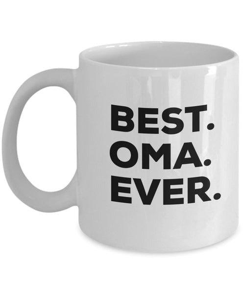 Oma Mug - Best Oma Ever Coffee Cup - Oma And Opa Mug - Oma Gifts - Funny Gag Gift From Kids Granddaughter Grandson - For A Novelty Present Idea- Birthday Christmas Present - Kitchen (11oz, Oma)