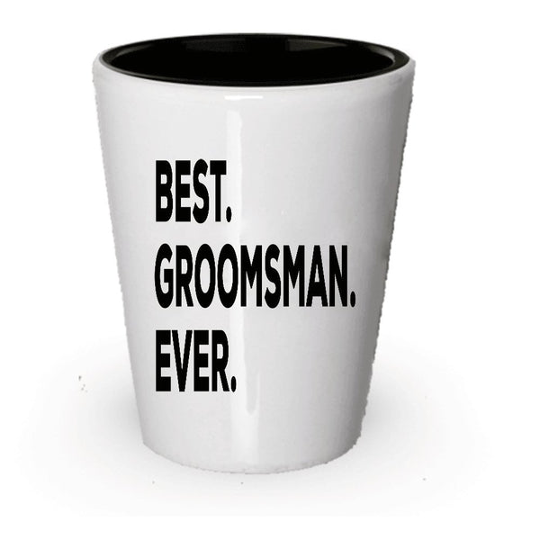 Groomsman shot Glass - Groomsman Gifts - Put In Gift Box Bags Set Basket - Wedding Thank You Present For The Party - Asking Funny Gag Gift Idea - Groom To Be - Under $20 - The Thoughtful Idea (2)