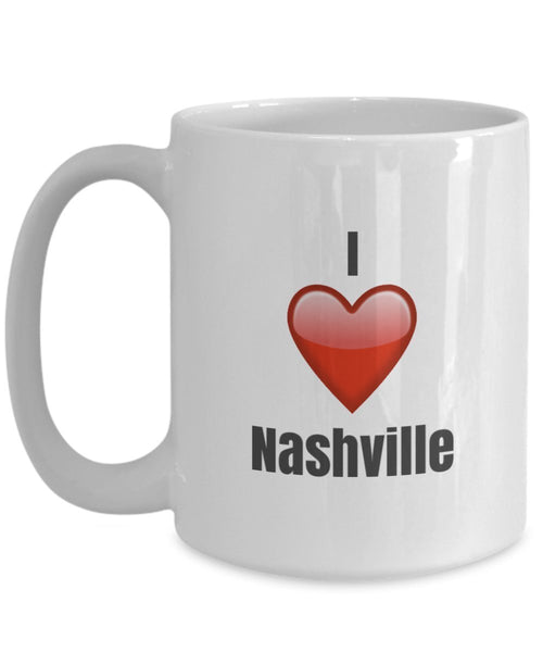 I Love Nashville unique ceramic coffee mug Gifts Idea