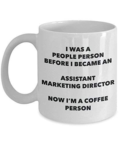 Assistant Marketing Director Coffee Person Mug - Funny Tea Cocoa Cup - Birthday Christmas Coffee Lover Cute Gag Gifts Idea