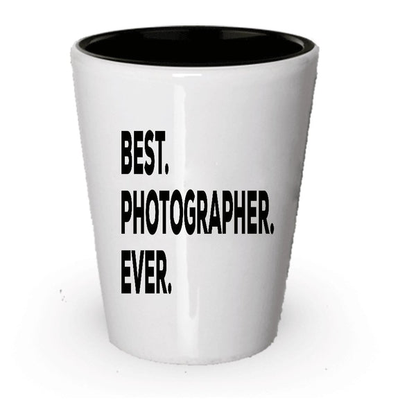 Photographer Shot Glass - Best Photographer Ever - Photograph Gifts - For Women Men - For Gift Novelty Idea - Add To Gift Bag Basket Box Set - Funny Present Ideas (6)