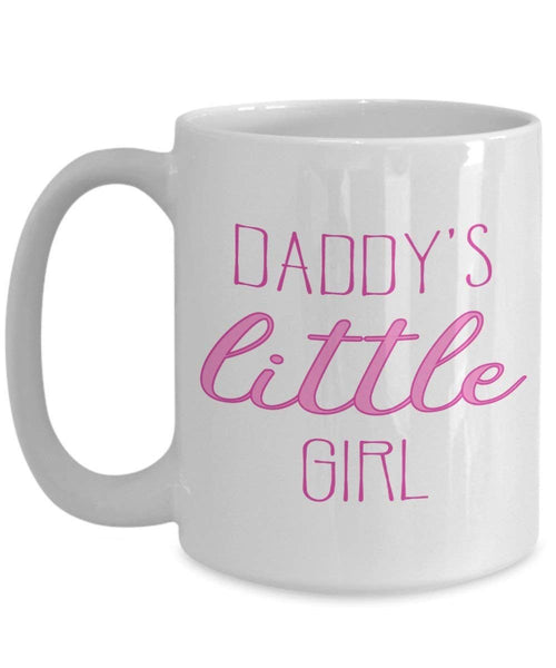 Daddy's Little Girl Coffee Mug - Funny Tea Hot Cocoa Coffee Cup - Novelty Birthday Christmas Anniversary Gag Gifts Idea