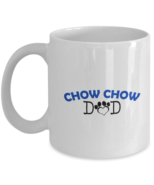 Funny Chow Chow Couple Mug – Chow Chow Dad – Chow Chow Mom – Chow Chow Lover Gifts - Unique Ceramic Gifts Idea (Dad & Mom)
