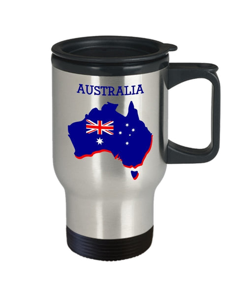 Australia Travel Mug - Funny Tea Hot Cocoa Coffee Insulated Tumbler Cup - Novelty Birthday Christmas Anniversary Gag Gifts Idea
