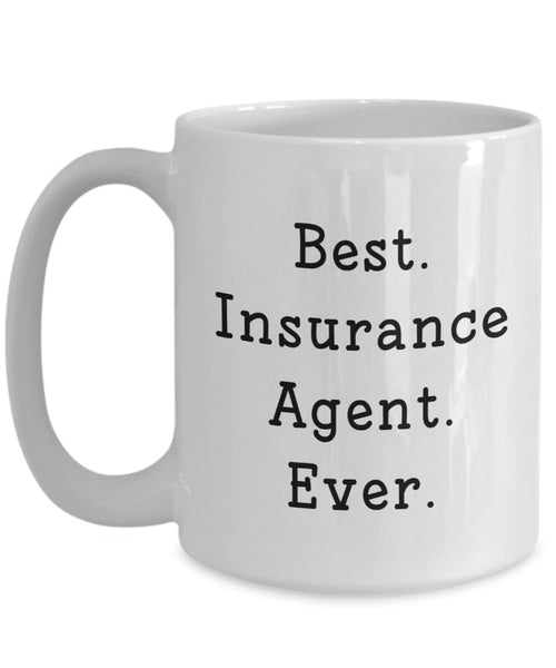 Insurance Agent Mug - Funny Tea Hot Cocoa Coffee Cup - Novelty Birthday Christmas Anniversary Gag Gifts Idea