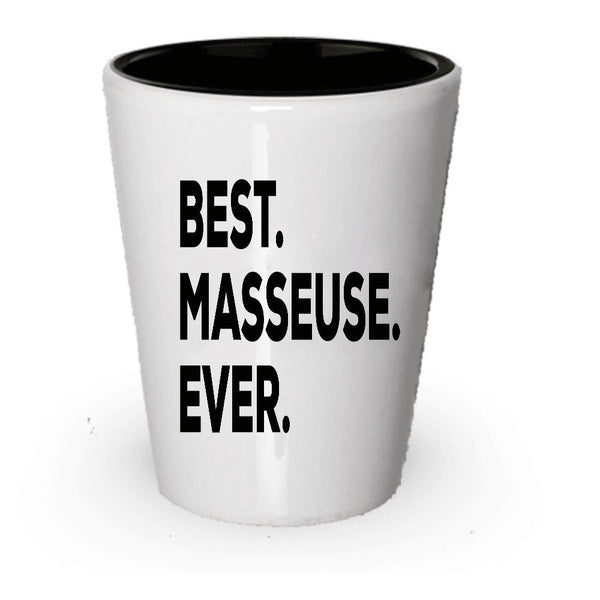 Masseuse Gifts - Best Masseuse Ever Shot Glass - Novelty Gift Idea - For Appreciation Thank You Promotion Graduation - Can Be Funny Gag Or Birthday Christmas Gift - Inexpensive Under $20 (4)