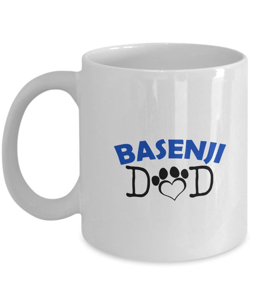 Funny Basenji Couple Mug - Basenji Dad - Basenji Mom - Basenji Lover Gifts - Unique Ceramic Gifts Idea (Dad)