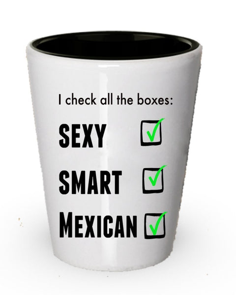 Funny Mexican Pride Coffee shot glass For Men or Women