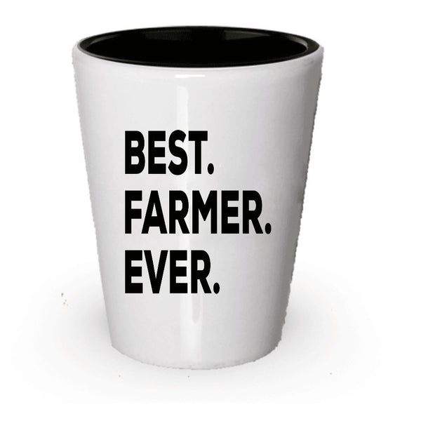 Farmer Shot Glass - Farmer Gifts - For Farmers - Novelty For Women Men Or A Mom Or Dad - Funny Gag Gift - Ideas For Anniversary Birthday Christmas - Put In Gift Basket Set Bag (4)