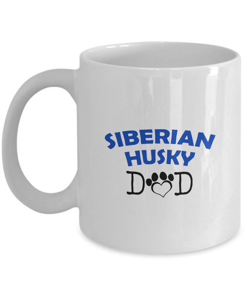 Funny Siberian Husky Couple Mug – Siberian Husky Dad – Siberian Husky Mom – Siberian Husky Lover Gifts - Unique Ceramic Gifts Idea (Mom)