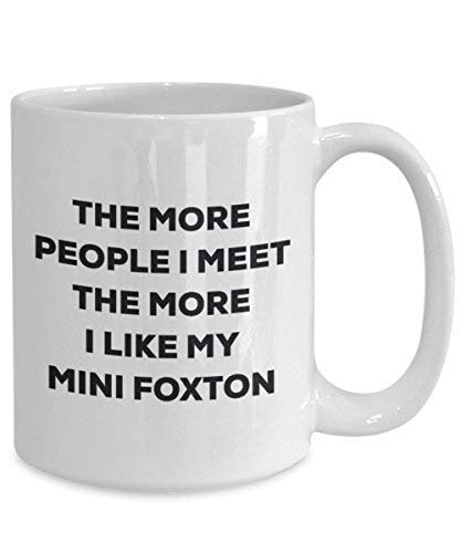 The More People I Meet The More I Like My Mini Foxton Mug - Funny Coffee Cup - Christmas Dog Lover Cute Gag Gifts Idea