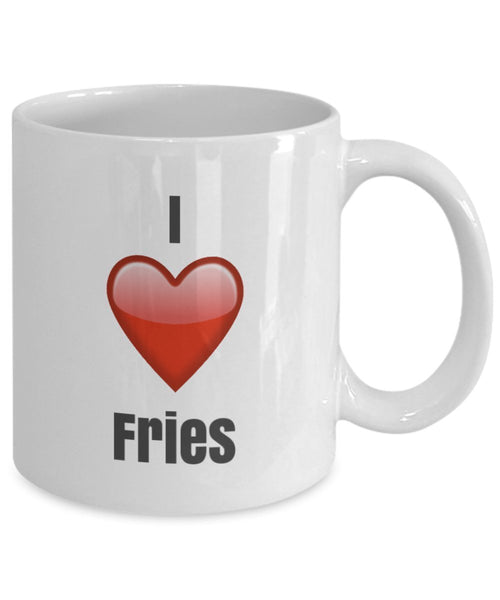 I Love Fries unique ceramic coffee mug Gifts Idea
