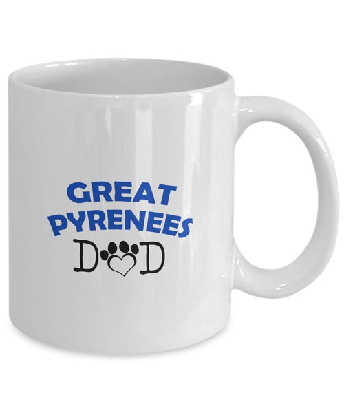 Funny Great Pyrenees Couple Mug – Great Pyrenees Dad – Great Pyrenees Mom – Great Pyrenees Lover Gifts - Unique Ceramic Gifts Idea (Dad & Mom)