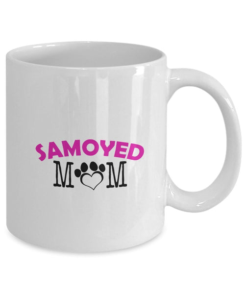 Funny Samoyed Couple Mug – Samoyed Dad – Samoyed Mom – Samoyed Lover Gifts - Unique Ceramic Gifts Idea (Mom)
