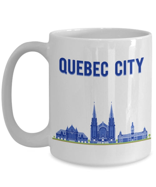 Quebec City Mug - Funny Tea Hot Cocoa Coffee Cup - Novelty Birthday Christmas Anniversary Gag Gifts Idea